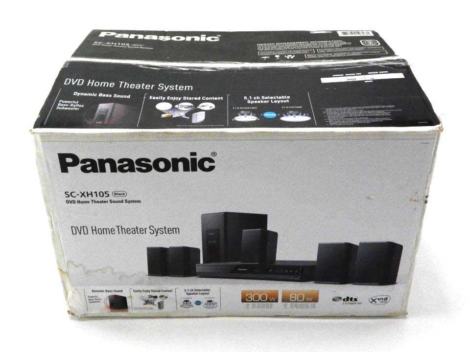 panasonic home theater system sc xh105 black 5 1. Black Bedroom Furniture Sets. Home Design Ideas