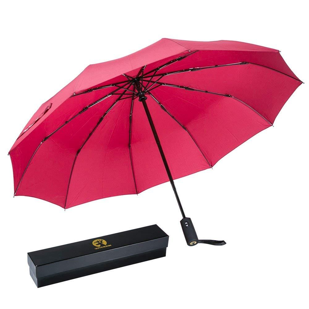 785ba8f720c7 Windproof Travel Umbrella,Roterdon Compact Automatic Umbrellas ...