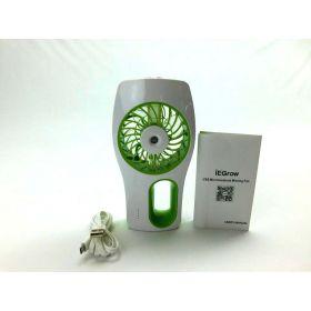 iEGrow HQM-MY001 Handheld USB Mini Misting Fan, Green