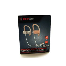 Blackweb Wireless Bluetooth Sport Earbuds, Rose Gold