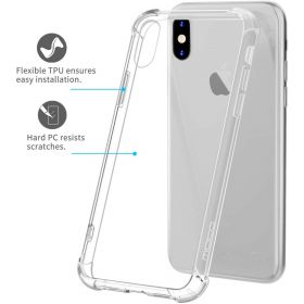 MoKo iPhone X and iPhone XS Cover Case Crystal Clear Reinforced Corners