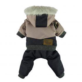 Pet Clothing Waterproof Fitwarm Windproof Outdoor Windproof Fleece Coats Black