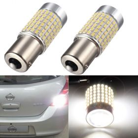 AMBOTHER 2PCS 144 SMD LED 1156 BA15S P21W Single Contact Super White for car