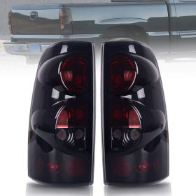 DWVO Taillights Tail Lamps For Chevy Chevrolet Silver