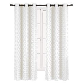 """Set of 2 Panels 84""""Wx63""""L -Royal Tradition - Willow - White"""