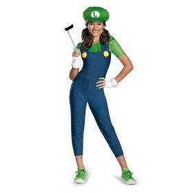Nintendo Super Mario Brothers Luigi Tween Costume, Medium/7-8