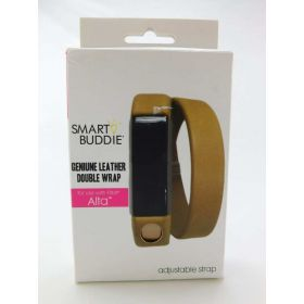 fitbit Leather Double Wrap Smart Buddie- Adjustable Strap