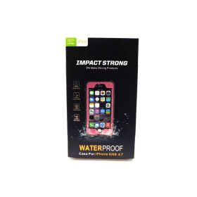ImpactStrong Slim Waterproof Cover with Built-in Screen Protector for Apple iPhone 6 / 6s (4.7 Inch) (Pink)