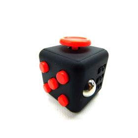 BIGOCT Fidget Cube Relieves Stress & Anxiety Toy - Black/Red