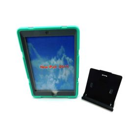ZxU New iPad 9.7 Case, Slim Silicone Shockproof, With Stand (Teal+Gray)