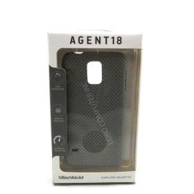 Agent 18 Slimshield Perforated Wrap Case for Samsung Galaxy S5 - Gray