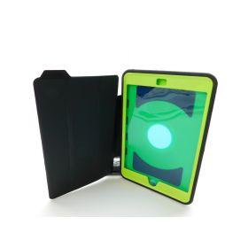 SEYMAC iPad Mini 4 Case, Three Layer Drop Protection Rugged (Black/Green)