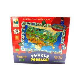 The Learning Journey Puzzle Doubles Find It! USA Floor Puzzle