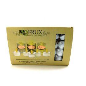 Frux Home and Yard FLAMELESS Tea Light Set 24 Flickering LED
