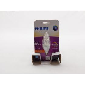 Philips LED Dimmable B12 Soft White Light Bulb with Warm Glow Effect 4-Pack