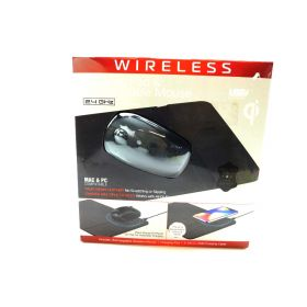 Tzumi Wireless Charging Pad and Rechargeable Wireless Mouse - Built-in Wireless