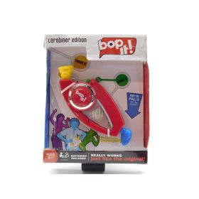 BOP IT Carabiner Edition Pocket Travel Handheld Portable Strategy, Red