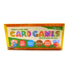 Set of 4 Classic Children's Card Games With 2 Card Holders Brybelly