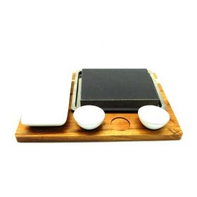 Kitchen stones set with bowls bamboo tray ceramic dishes Stainless Steel Platter