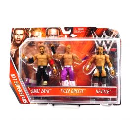 WWE SAMI ZAYN- TYLER BREEZE- NEVILLE 3 PACK