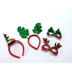 Joyin Toy Christmas & Holiday Party 4 pack Fancy Headband and Party Glasses