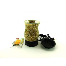 Candle Warmers Gilded Glass Illumination Fragrance Warmer