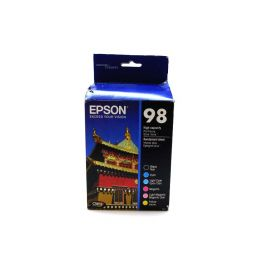 Epson 98 Black & Color C/M/Y/LC/LM Ink Cartridges, T098120-BCS, High Yield