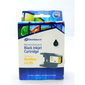 Dataproducts DPCLC75B Remanufactured Inkjet Replacement for Brother LC71, LC75 - Black Ink