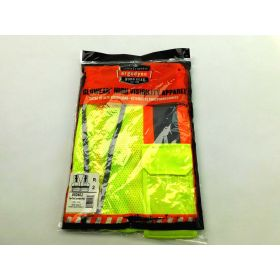 8246Z S/M Lime Type R Class 2 Two-Tone Mesh Vest w/ Reflective