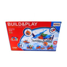 Build-n-Play 5-in-1 Construction Engineering Vehicle Building Set 132 Pieces DIY