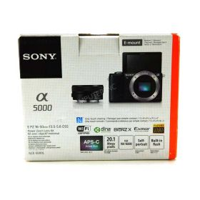 Sony Alpha a5000 Mirrorless Digital Camera with- 16-50mm OSS Lens (Black)