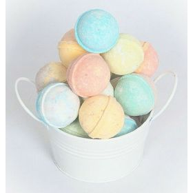 SPLENDEUR Bucket O' 12 LUSCIOUS Bath Bomb Fizzes/ Wrapped 2""
