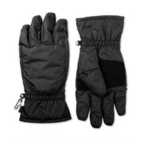 isotoner Mens Black Waterproof Touchscreen Everyday Winter Gloves M BHFO 9262