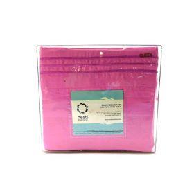 Nestl Bedding 100% Cotton Flannel Pillowcases Queen Pink Pillow Cover Maximum Softness