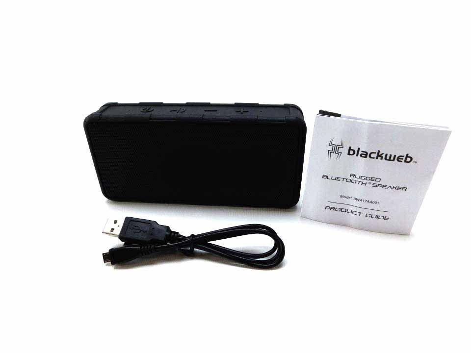 Blackweb Rugged Bluetooth Speaker Waterproof (Black)