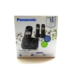 Panasonic KX-TG3683 Cordless Phone Digital Answering Machine 3 Handsets
