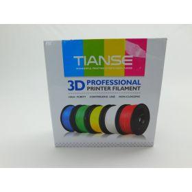 TIANSE White PLA 3D Printer Filament, 1.75mm Diameter Tolerance +/- 0.03 mm