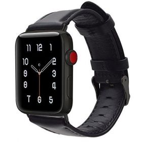 For Apple Watch Band 42Mm,Shielda Retro Genuine Leather Strap Band