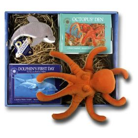 Octopus' Den and Dolphin's First Day Oceanic Collection Mini Book, Plush Series