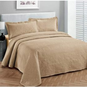 Fancy Collection 2pc Luxury Bedspread Coverlet Embossed Bed Cover Solid twin XL