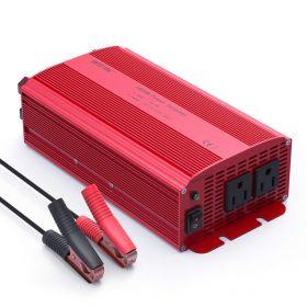 BESTEK 1000W Power Inverter Dual AC Outlets 12V DC to 110V AC Car Inverter