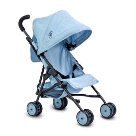 TRIOKID My First Baby Doll Stroller Miniline Blueberry Blue Travel Toys for Kids