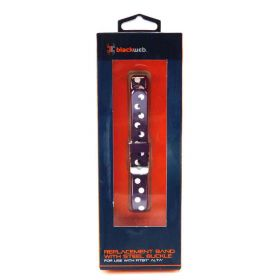 Blackweb Silicon Band For Fitbit Alta Polka Dot Plum (Purple)