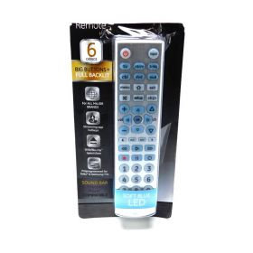 Ge Designer Series Universal Media Streaming& Sound Bar Remote (6 Device)