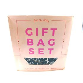 Gift Bags Set with Bonus Tissue Paper, Greeting Cards and Envelopes.