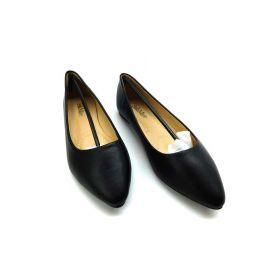 Bella marie angie-52 women's classic pointy toe ballet pu slip on flats black 6