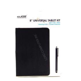 "Digital Energy 8"" Tablet Case Combo Folio Case/ Screen Protector Blk"