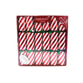 12 Handmade Candy Cane Stripe Christmas Crackers