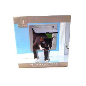 Pet Door With 4 Way Lock For Dog Cat Entry & Exit