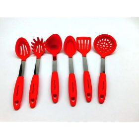 Culinary Couture Stainless Steel & Silicone Kitchen Utensil Set - Heat Resistant